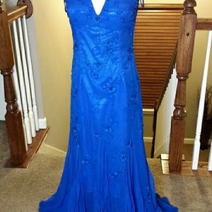 Beaded off the shoulder prom dress